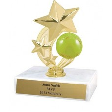 "6"" Color 3-Star Softball Spinning award"